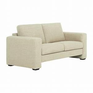 bosa canape 2 places en tissu blanc casse confort With canape 2 places tissu blanc