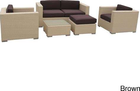 outdoor wicker sectional sofa set malibu collection 5 piece wicker outdoor sectional sofa