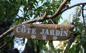 Pancarte En Bois : pancarte decorative en bois flott theme cot jardin d corations murales par la cage a deco ~ Teatrodelosmanantiales.com Idées de Décoration