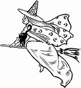 Witch Clip Flying Clipart Fairy Halloween Graphics Wicked Witches Hag Cliparts Drawings Victorian Silhouette Library Spooky Thegraphicsfairy Clipartix Graphic Moon sketch template