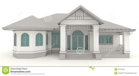 home architect design 3d retro house architecture exterior design in whi stock images image 37779104