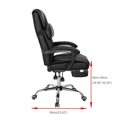 Cing Chairs With Footrest Uk by Leather Executive Swivel Office Computer Chair Reclining