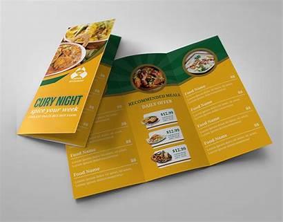 Fold Tri Indian Menu Restaurant Brochure Template