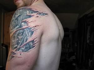 41+ Mechanical Tattoos On Shoulder