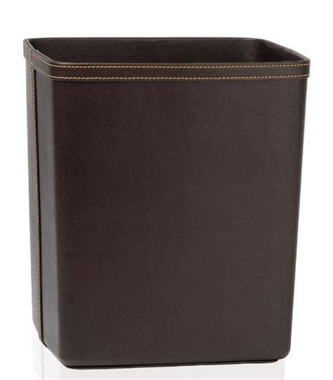corbeille de bureau office wastebasket in brown leatherette wadiga com