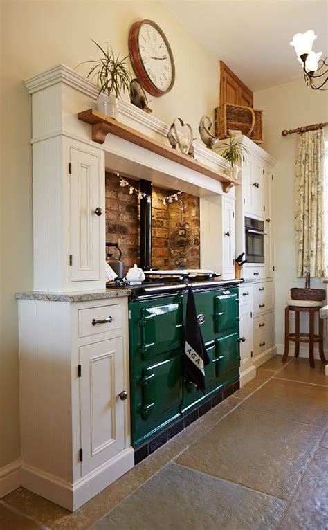 traditional green aga contemporary classic bespoke