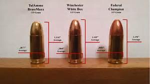 9mm Ammo Analysis Federal V Winchester V Tulammo