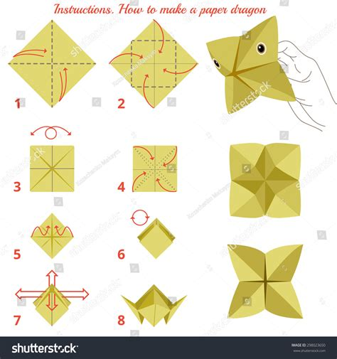 How To Make A Paper Boat Procedure by How Make Paper Animal Stock Vector