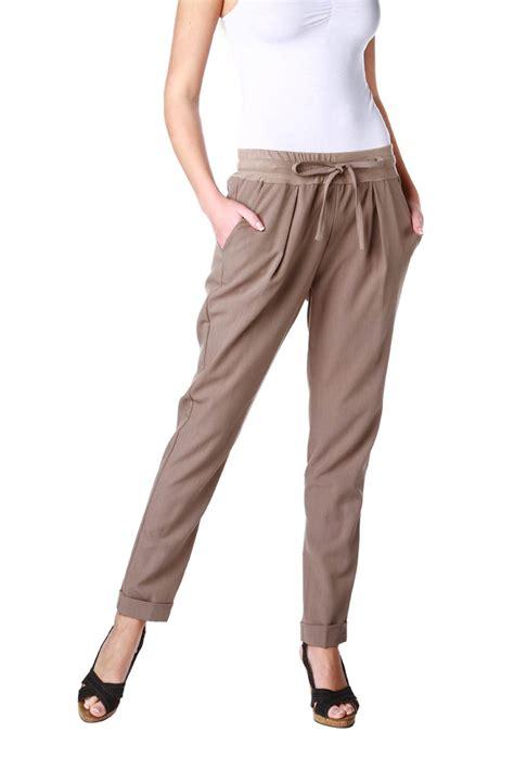 pantalon de cuisine femme pantalon taille élastiquée en maille fluide femme