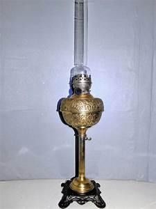 Lampe En Cuivre : ancienne lampe a petrole en cuivre pied reglable en hauteur old antique lamp ~ Carolinahurricanesstore.com Idées de Décoration