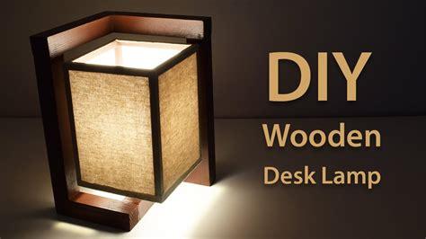 build  wooden desk lamp diy project youtube