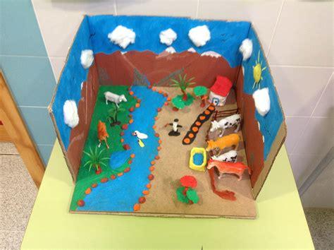 ejemplo de una maqueta de  ecosistema  material reciclable el ecosistema youtube