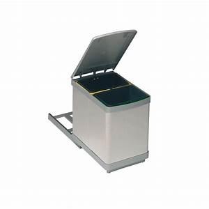 Poubelle Tri Selectif 2 Bacs : poubelle bacs 15l inox ~ Dailycaller-alerts.com Idées de Décoration
