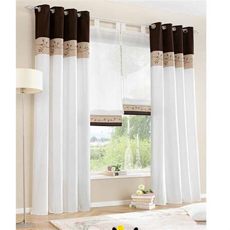chinese modern curtains white sheer tulle short window