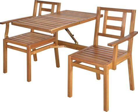 Banc De Jardin Convertible En Table + Chaises En Bois