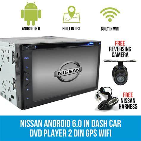 Nissan Android 6.0 In Dash Car DVD Player 2 DIN GPS WIFI
