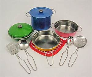 11-pieces Playset Colorful Metal Pots and Pans Kitchen ...