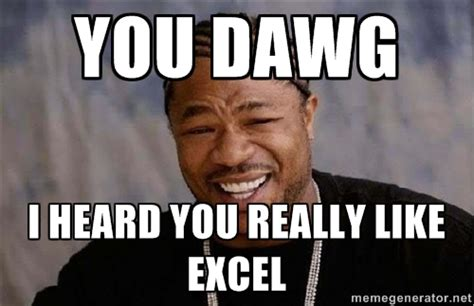 Exle Of Meme Excel Meme Pictures To Pin On Pinsdaddy
