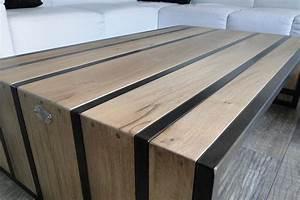 Mobilier Bois Design : conception et fabrication de mobilier contemporain acier bois metal cr ateur artisanal table ~ Melissatoandfro.com Idées de Décoration