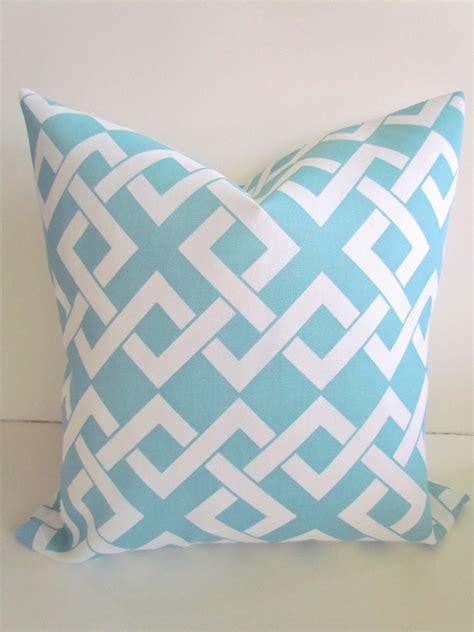 sale outdoor throw pillows 20x20 light blue by