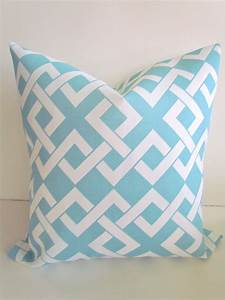 Sale outdoor throw pillows 20x20 light blue by for Light blue throw pillows