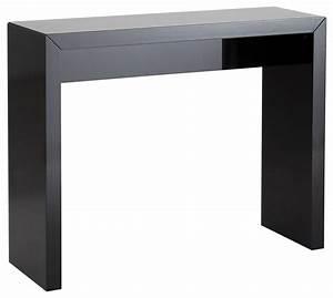 Table Console Alinea : console alinea noire table de lit ~ Teatrodelosmanantiales.com Idées de Décoration
