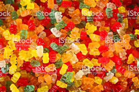 Gummy Background Gummy Colorful Background Stock Photo More