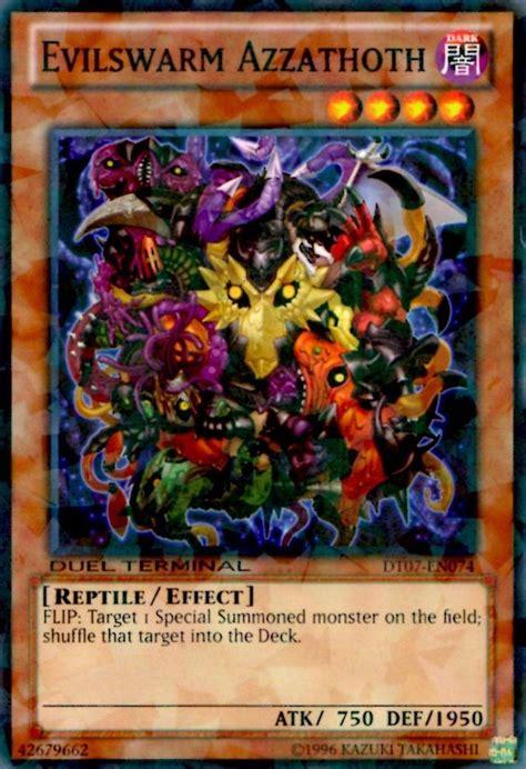 evilswarm yugioh cards weird card weirdest duel terminal dt07 parallel rare worm stand en074