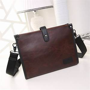luxury leather men39s briefcase messenger laptop document With mens leather document bag