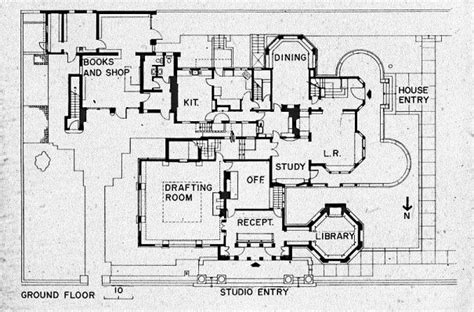 current first floor plan house frank lloyd wright home