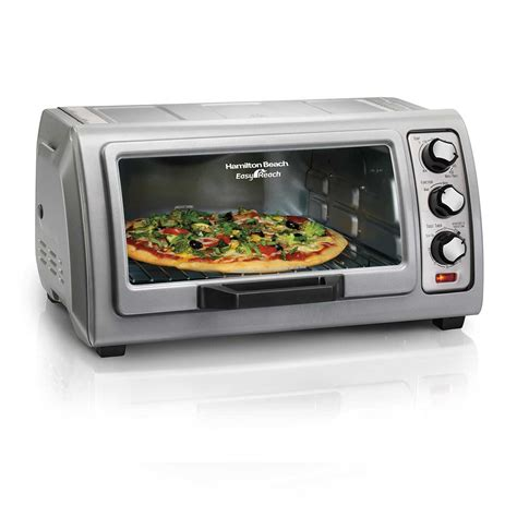 Simple Toaster Oven - hamilton easy reach 174 toaster oven with roll top door
