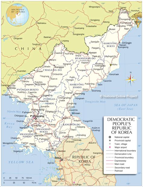 korea north map map pictures