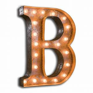 rusty 24 inch letter b marquee light by vintage marquee lights With 24 inch lighted letters