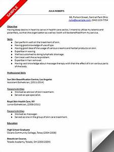 esthetician resume sample resume examples pinterest With esthetician resume sample