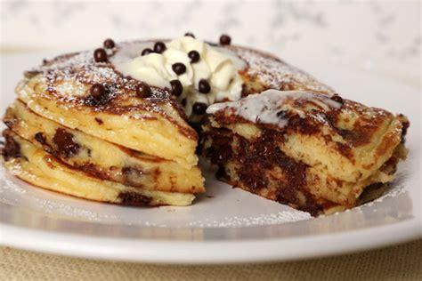 chocolate chip pancakes chocolate chip pancakes popsugar food