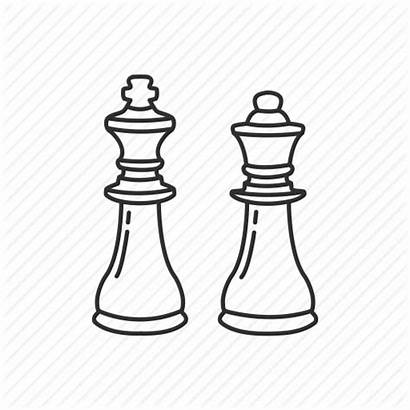 Chess Board King Piece Queen Drawing Strategy