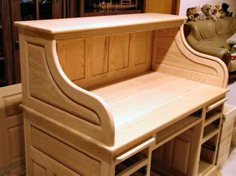 dempsey woodworking roll top desk