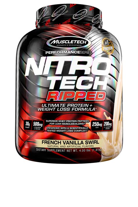 Nitro Tech Ripped Ultra Clean Whey Protein Isolate Powder