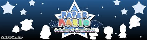 paper mario fan game paper mario colors of creation the super paper mario