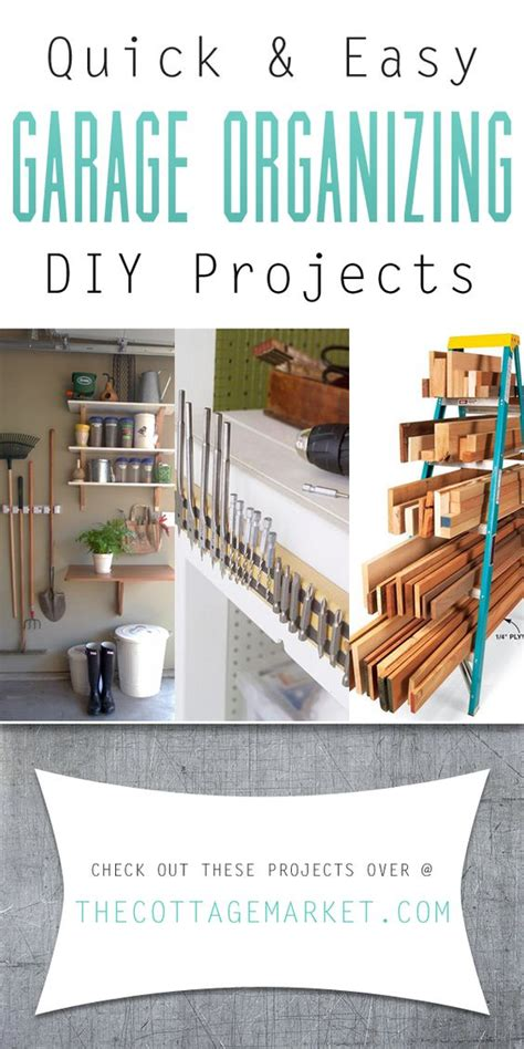 quick  easy garage organizing diy projects