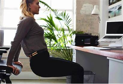 Office Desk Exercises Easy Triceps Arm Friendly