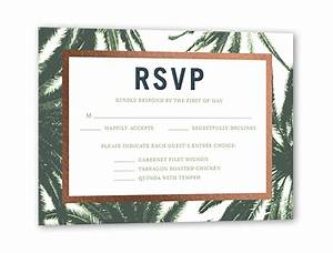 adorned frame palms rsvp card by tallu lah shutterfly With shutterfly wedding invitations with rsvp