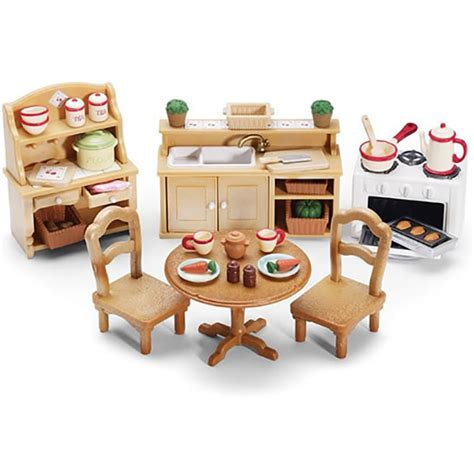 calico critters kitchen calico critters deluxe kitchen set and accessories