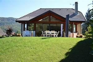 extension de maison en ossature bois et aluminium en haute With extension maison en l 18 sas dentree