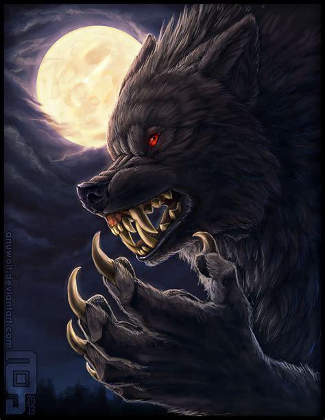 black werewolf  red eyes