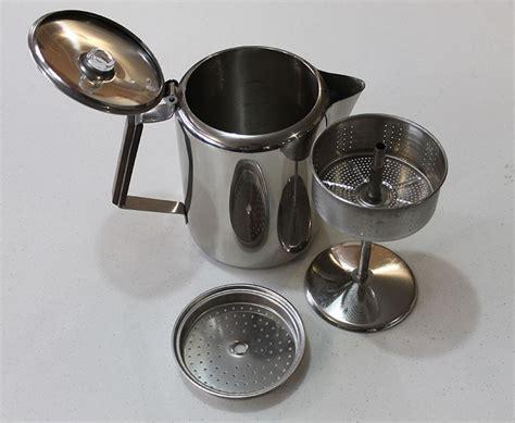 Wählen sie aus erstklassigen inhalten zum thema coffee maker old in höchster qualität. Old-fashioned stove top coffee percolator. Stainless 9 or 12 Cup