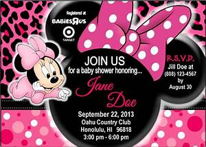 Minnie Mouse Baby Shower Ideas FREE Printable Baby