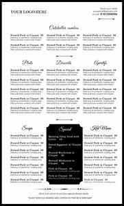 menu templates microsoft word portablegasgrillwebercom With food menu templates for microsoft word