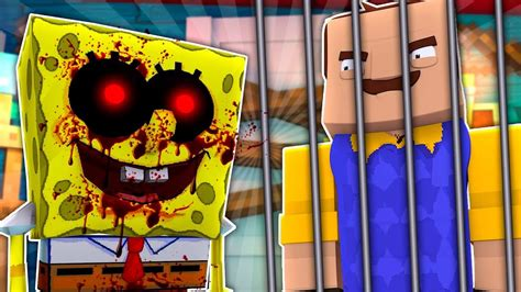 Spongebob.exe Gets His Revenge On The Neighbour! Minecraft