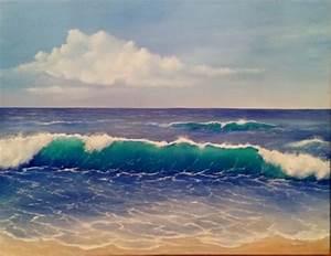 Tableaux Mer Et Plage : tableau peinture huile mer ~ Teatrodelosmanantiales.com Idées de Décoration